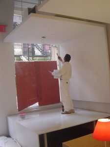 Painting the overhang 225